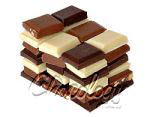 stacked chocolate various types