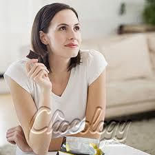 woman contemplating choco