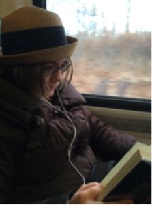 Madeline on Train