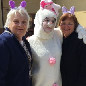 Easter Bunny with Seniors