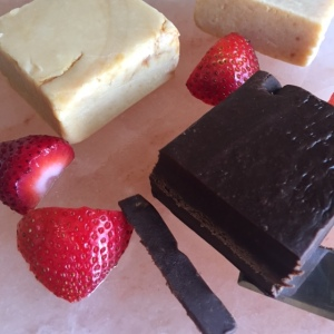 Fudge on Salt Block